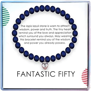 Amazon Com Solinfor 50th Birthday Gifts For Women Lapis Lazuli