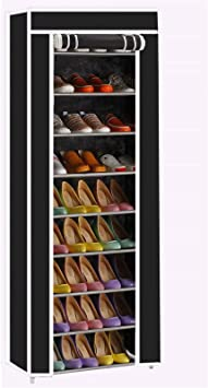 Multi Layers Shoe Rack Nonwoven Fabric Home Shoes Storage Organizer Cabinet New