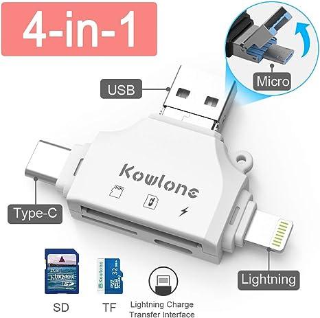 Vanja MICRO USB OTG Adapter e USB 2.0 portatile lettore di schede di memoria per SDXC,