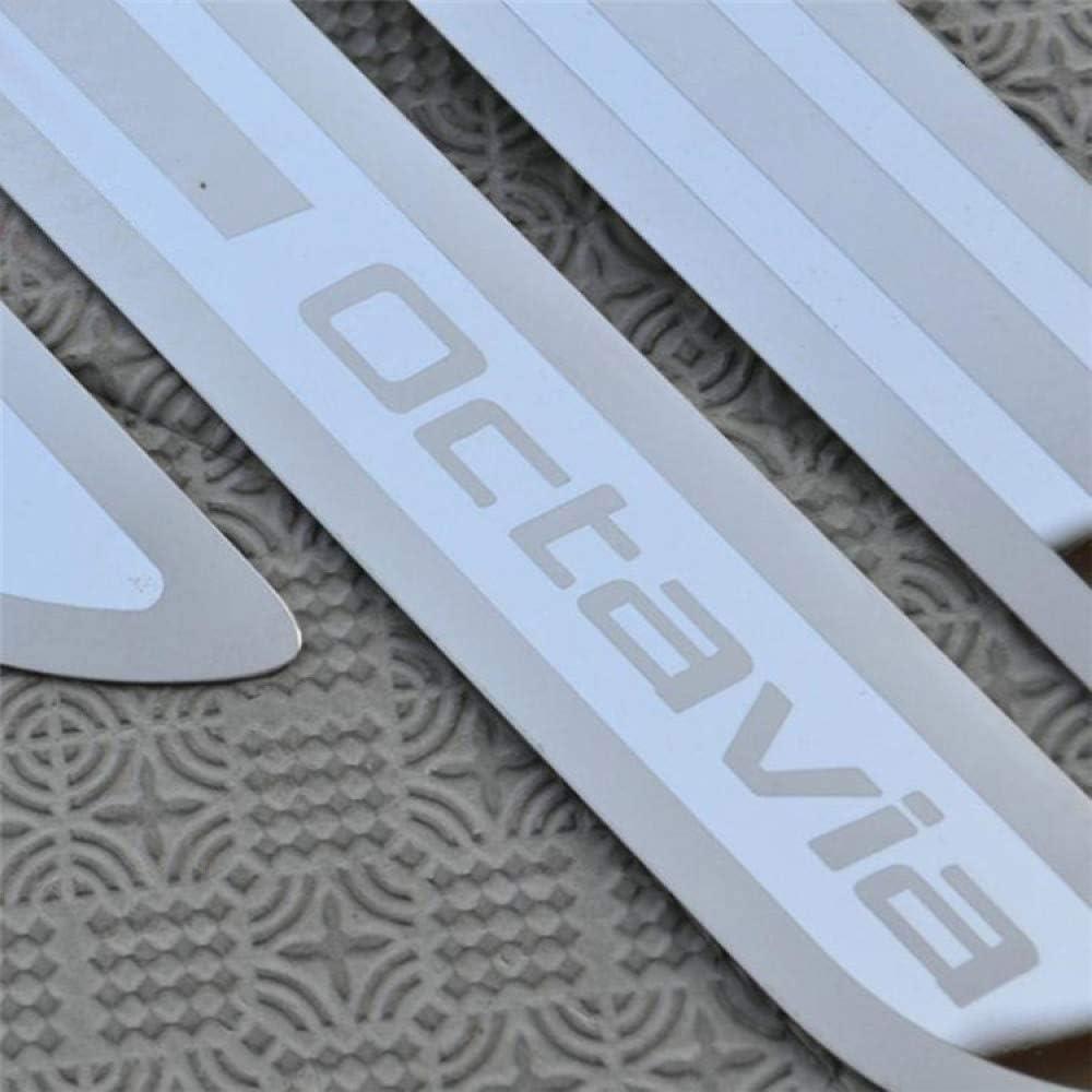 JJJLV 4 Pezzi protettore per davanzale portiera per Auto per Skoda Octavia 2007-2014 Rivestimento della soglia del Pedale di sfregamento Coperchio di Protezione Piastra Ticker Accessori