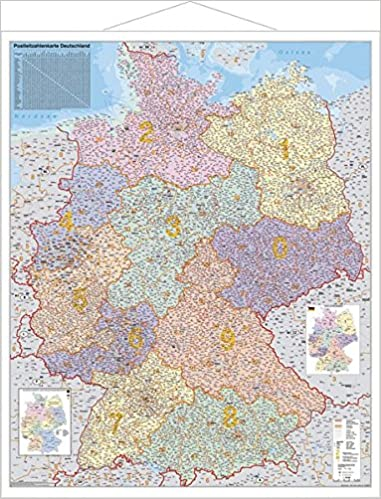 Postleitzahlen Karte Deutschland 1 1 000 000 Wandkarte