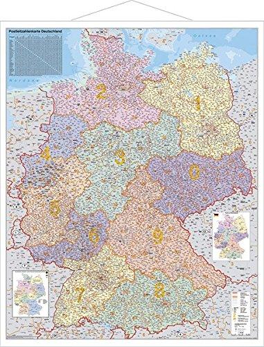 Deutschland Postleitzahlenkarte Landkarte – Wandkarte, 1. Dezember 2008 Stiefel Eurocart 392962754X MAK_VRG_9783929627541 Karten