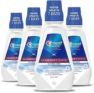 Crest 3D White Luxe Glamorous White Multi-Care Whitening Fresh Mint Flavor Mouthwash, 16 fl oz. (Pack of 4)
