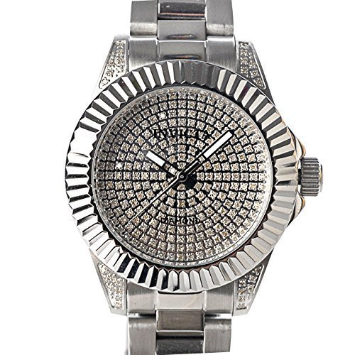 Invicta Women's Pro Diver Quartz 1.22ctw Diamond Pave Dial Stainless Silver Tone Bracelet Watch 17710