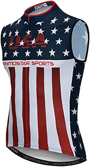 Weimostar Sleeveless Cycling Jersey Men Bike Shirts Vest Bicycle Clothing MTB Biking Jacket Tight