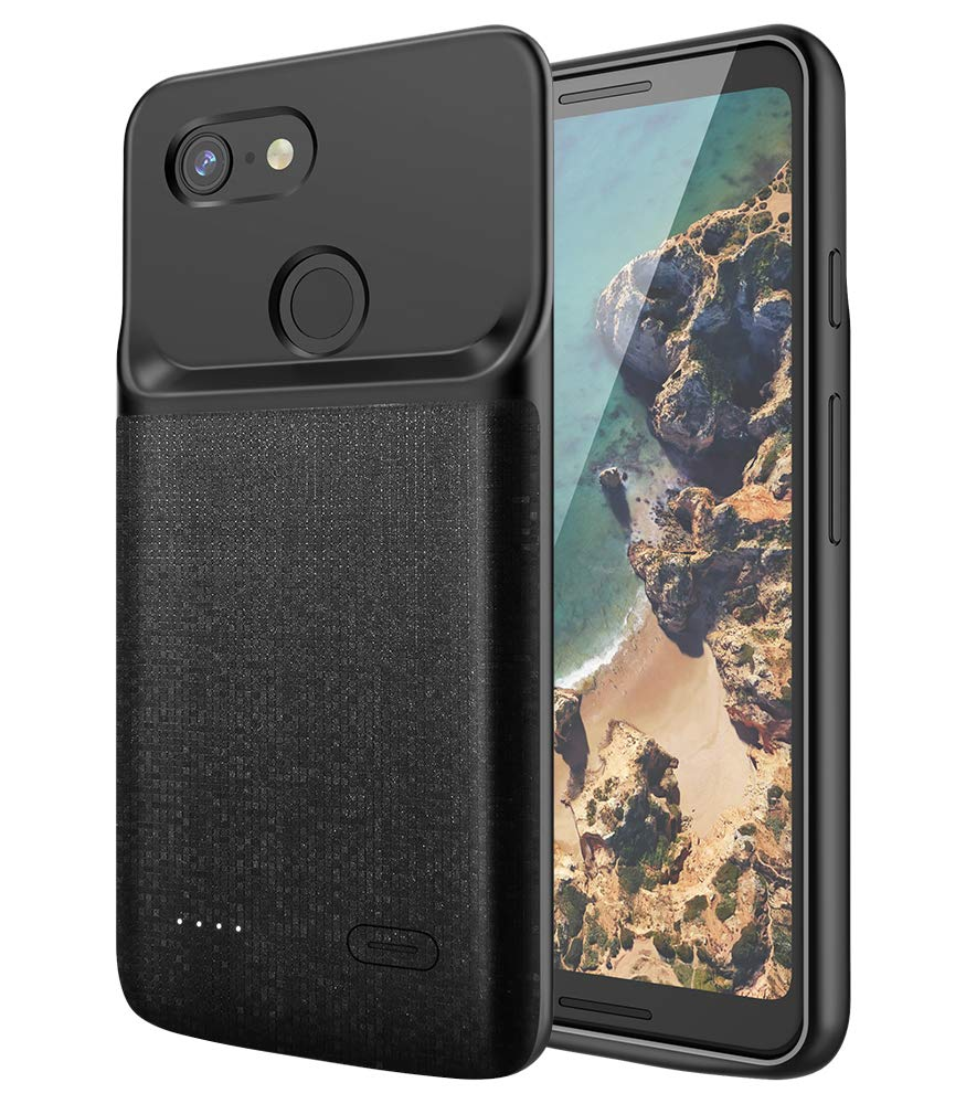 NEWDERY Google Pixel 3 Battery Case, 4700mAh Slim Extended Charger Case with TPU Raised Bezels, Rechargeable Charging Case Cover Compatible Google Pixel 3 by NEWDERY