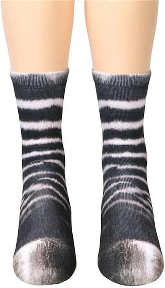 d9136523cd020 3D Imprimé Animal Paw Chaussettes pour Femmes Homme Fille Garçon  Décontracté Mignon Déguisement Socks Unisexe Chaussettes Cheville