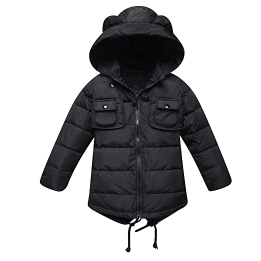 94384c743 iikids Unisex Boys Girls Thicker Warm White Duck Down Coat Long ...