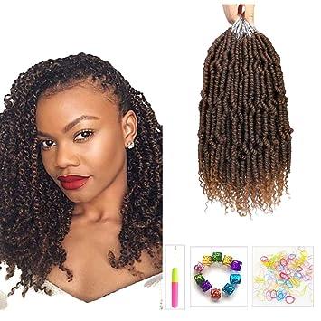 Amazon Com 4 Packs Spring Twist Hair Pre Twisted Hair Showjarlly Nubian Twist Braid Hair Crochet Braids Spring Twist Hair Braiding Hair Extension T30 Beauty