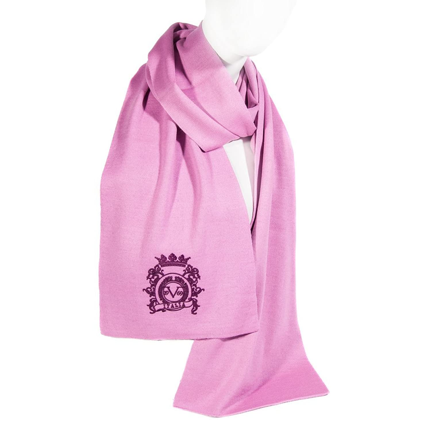 Versace Woman Pink Scarf With Logo