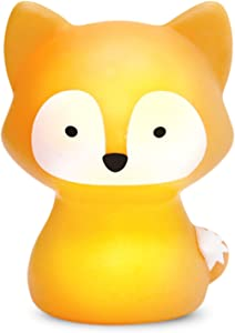 SomeShine Kids Night Light - Rechargeable Fox Nursery Night Light with Auto-Off Timer, Safe and Durable Kawaii Lamp and Glowing Companion for Baby Feeding, Diaper Changing, and Midnight Bathroom Trips