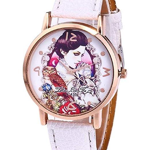 Scpink Relojes con diseño de niña para Mujer, Relojes de señora analógicos únicos Relojes Femeninos
