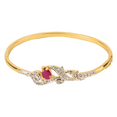 with kavels faceted bracelet ruby bangle handiwork bangles gorgeous gold inlaid rubies