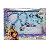Disney Frozen Best Friend Accessory Set Includes: 2 Beaded Bracelets with Charms, 2 Snap Clips & 2 Rings