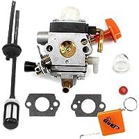 HURI Carburateur pour STIHL FS87 FS90 FS100 FS100R FS110 FS110R FS110X FS130 FS130R KM130 HT130 HT131 avec Tuyau d'Essence