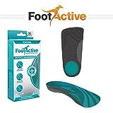 FootActive CASUAL – LES ORIGINALES – pour les douleurs au niveau du talon, les épines calcanéennes, la fasciite plantaire, les douleurs du genou et le mal de dos – des semelles de qualité superbe