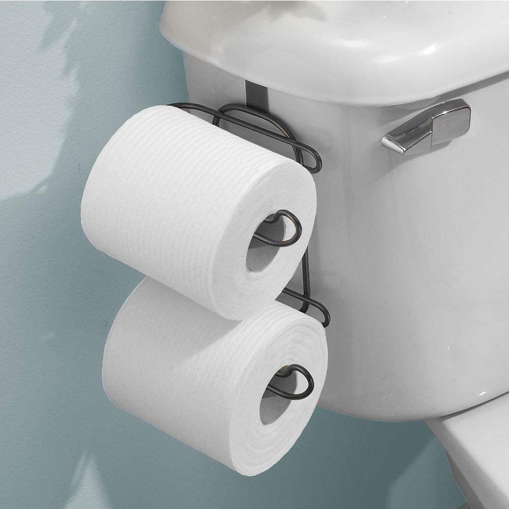 Satin InterDesign Neo Bathroom Over-The-Tank 2 Roll Toilet Tissue Paper Holder