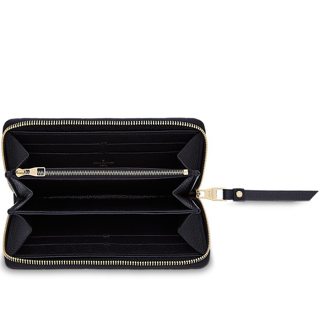low priced d5b80 001fa Louis Vuitton Monogram Empreinte Zippy Wallet M61864 Noir