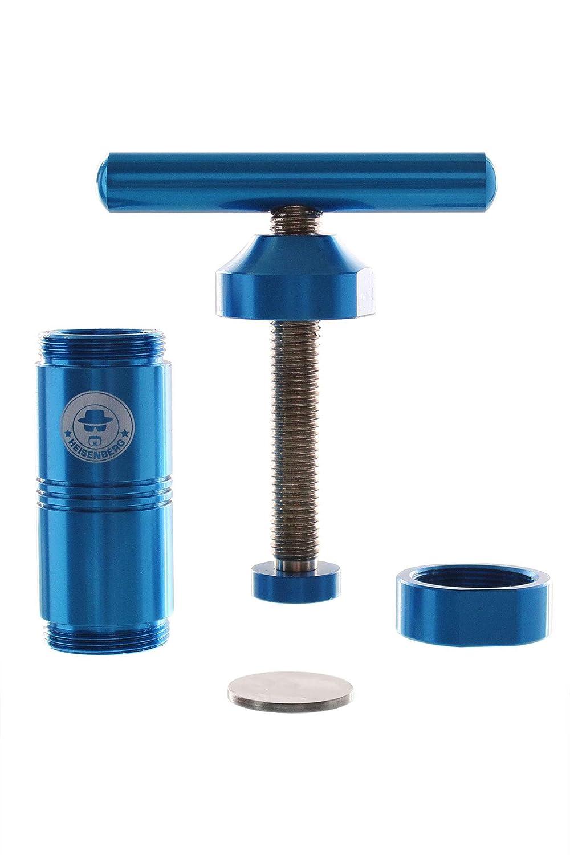 Heisenberg Pollenpresse Alu Blau H/öhe: 120mm Aluminium Durchmesser: /∅ 40mm Farbe: Blau