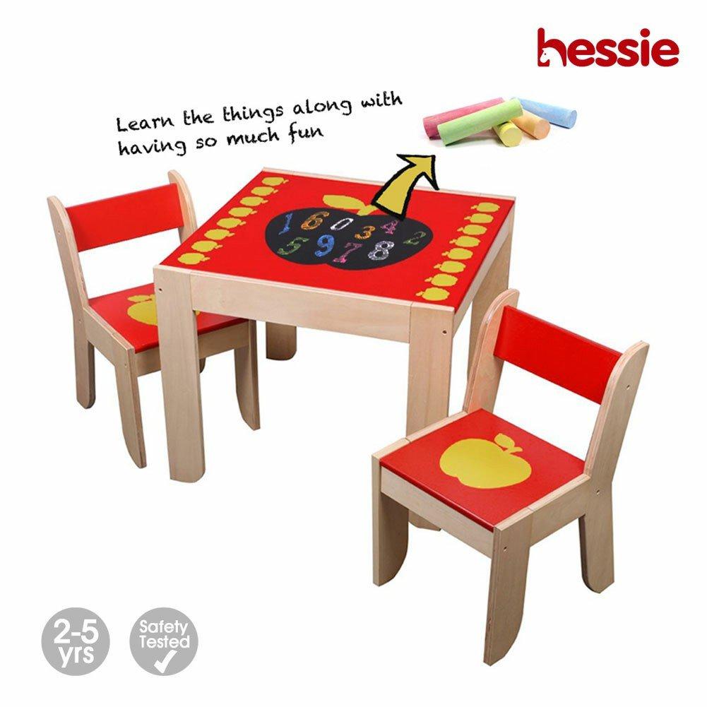 Hessie Pequeño niño pequeño juego de la actividad de los niños Juego de sillas de mesa