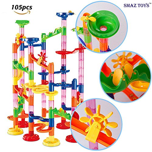 SMAZ TOYS Marble Games Marble Runs Board Toy for Kids Educational Construction Building Blocks for 3+ Kids Boys Girls 105pcs (Marble Run Game)