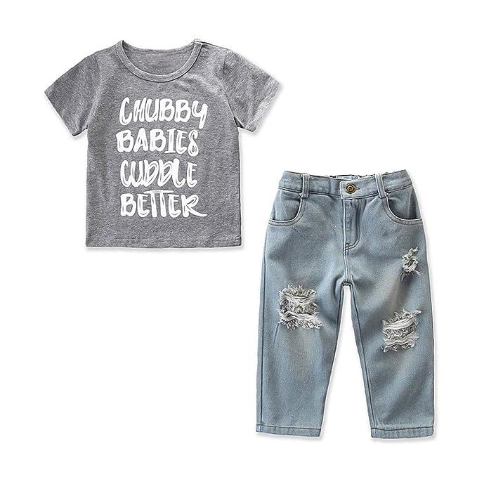 Conjunto de 2 Piezas de Camiseta con Estampado de Letras y ...