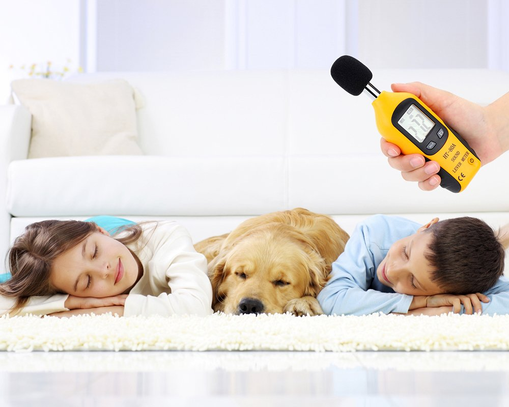 Medici/ón de Ruido de Audio 30-130dB Medidor de decibeles M80A Bater/ía incluida Mengshen Son/ómetro
