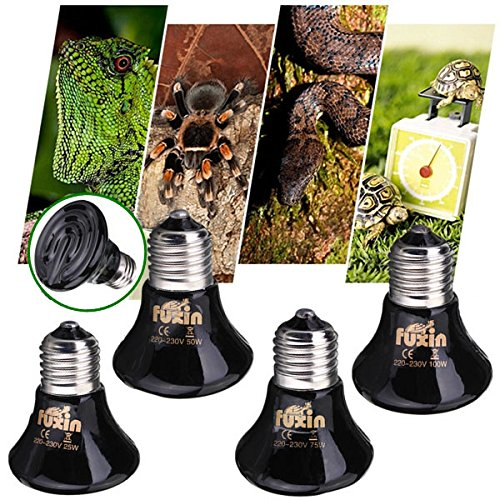 Nevada Electric Heater (Lights & Lighting - 220v Mini Black Ceramic Heat Infrared Emitter Lamp Bulb For Reptile Pet Brooder 25w/50w/75w/100w - 1PCs)