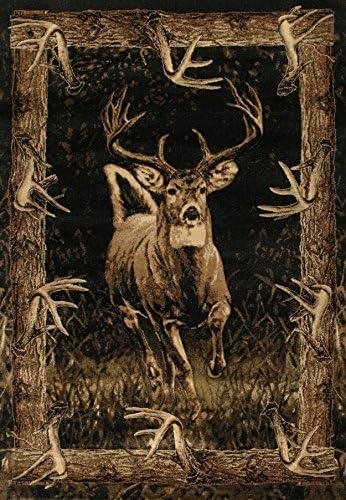 Segma Designer Contours Running Deer Area Rug, Burgundy, 7 10 x 10 6
