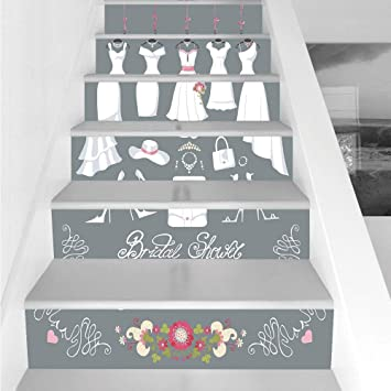 stair stickers wall stickers6 pcs self adhesivebridal shower decorations wedding