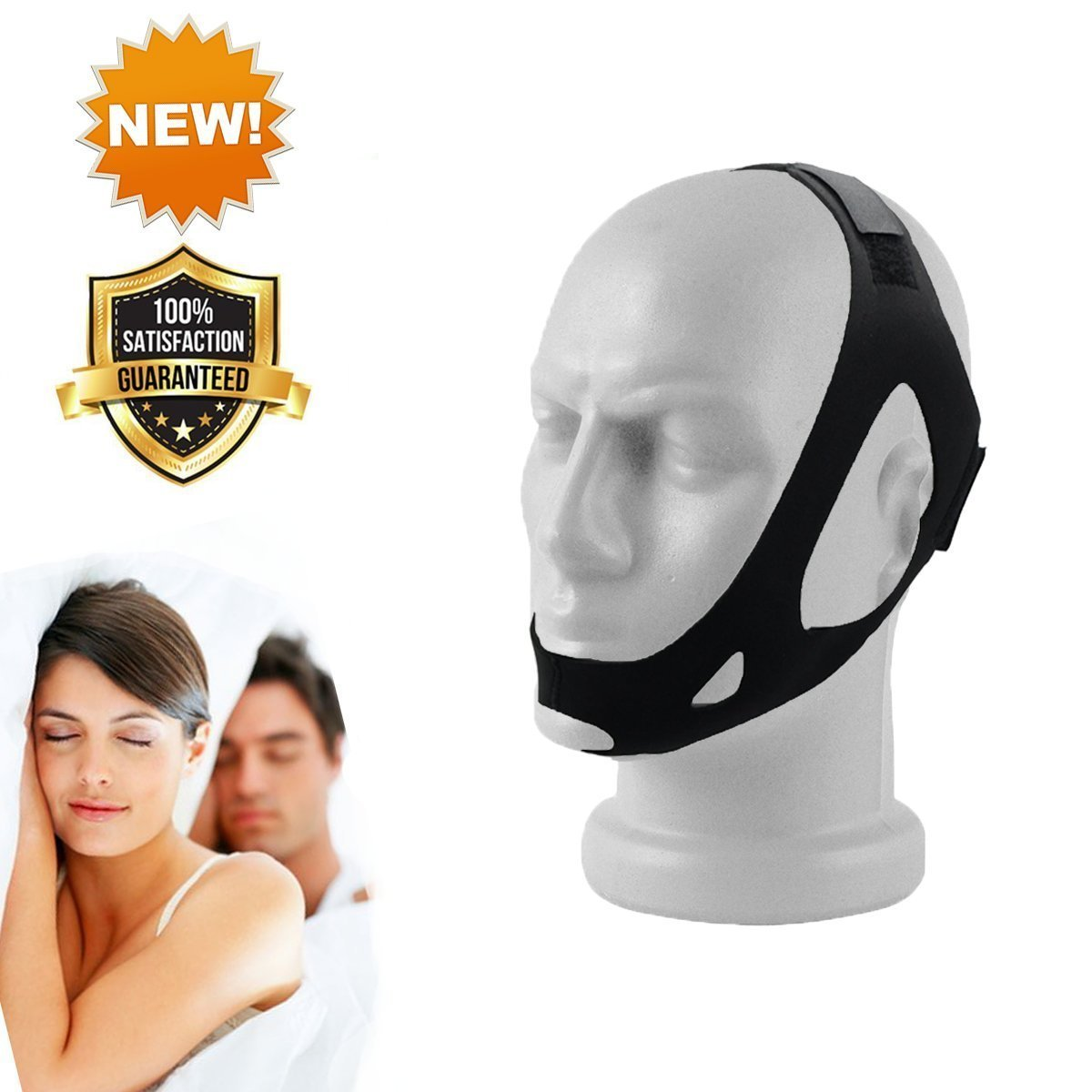 Stop Snore Chin Strap for Snoring - Adjustable Anti Snore Stopper Device - Anti Snoring Aids - Snore Solution - Chin Strap for Men the Chin Strap for Women