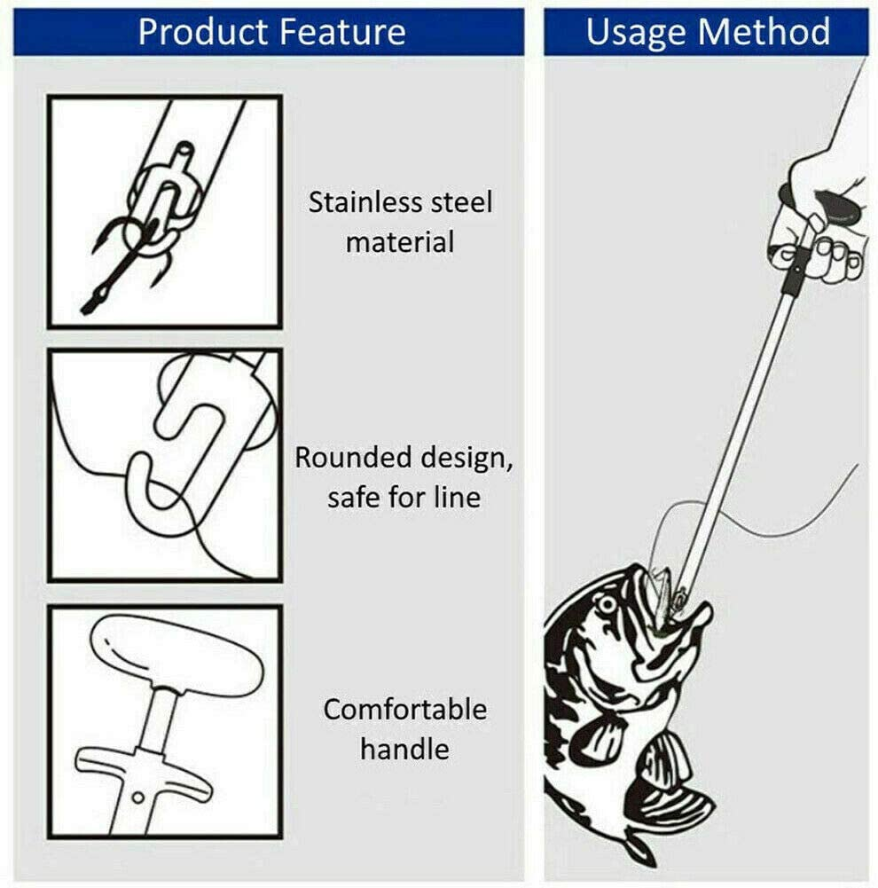 Prevently Easy Fish Hook Remover New Fishing Tool Minimizing The Injuries Tools Tackle Squeeze MHOYI Easy Fishing Hook Remover Tool