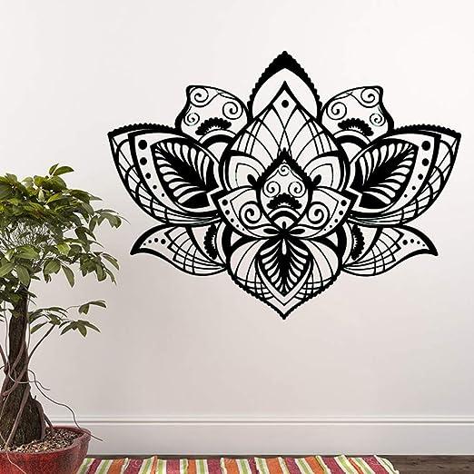 yaoxingfu Hermoso Bohemian Lotus Tatuajes de Pared Mandala Vinilo ...