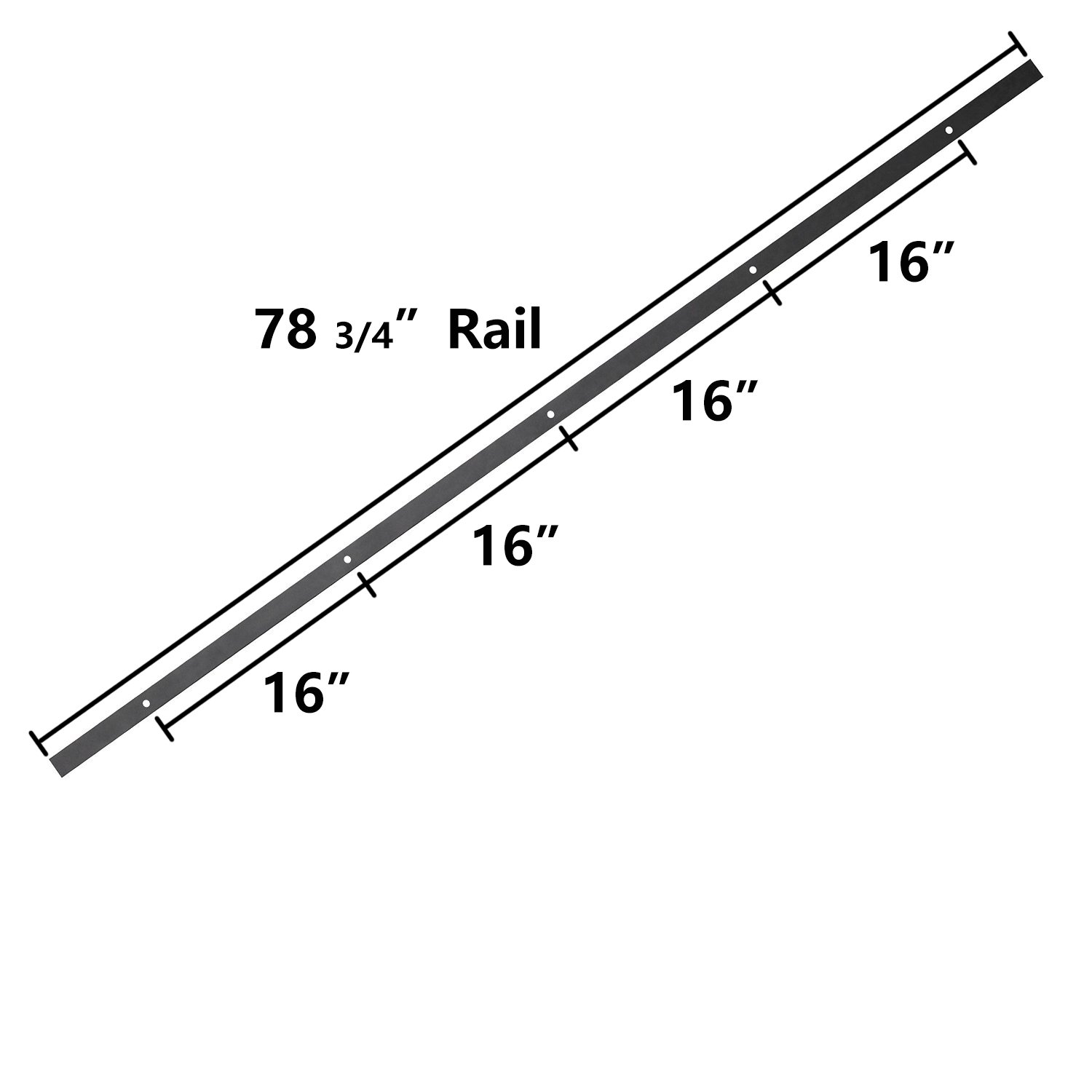 SMARTSTANDARD SDH0080STAINLESS03 Stainless Steel Sliding Barn Door Hardware Kit, 8ft Single Rail,Silver, Super Smoothly and Quietly, Simple and Easy to Install, Fit 48'' Wide DoorPanel by SMARTSTANDARD (Image #5)