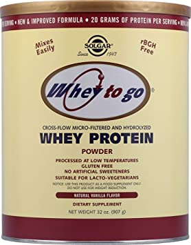 Whey To Go Proteina Vainilla 907 gr de Solgar