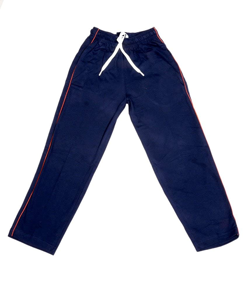 Pack of -4 /_Yellow::Blue::Blue::Red::Navy Blue::Grey/_Size-6-7 Years IndiWeaves Boys Premium 2 Cotton and 2 Warm Wollen Lower//Track Pants For Winter