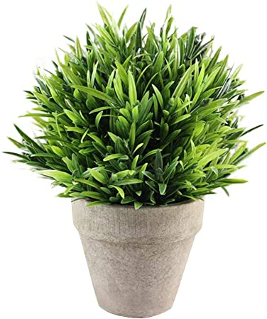 Jiji886 Artificielles Plantes Pot Plante Verte Decorative