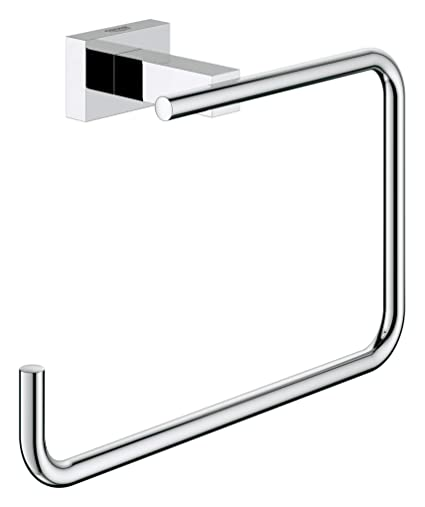 utterly stylish best choice various design GROHE 40510001   Essentials Cube Towel Ring   Chrome