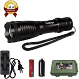 Zotoyi LED Flashlight 1800 Lumens, Zoomable Flashlights Waterproof Led Torch with 5 Modes for Camping Biking Home Emergency or Gift-Giving