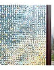 rabbitgoo Fensterfolie 3D Sichtschutzfolie Fenster Statisch Folie Selbsthaftend Privatsphäre Dekofolie Anti-UV für Zuhause oder Büro