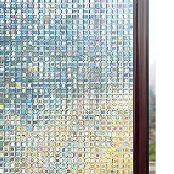 Rabbitgoo Fensterfolie 3d Sichtschutzfolie Fenster Statisch Folie