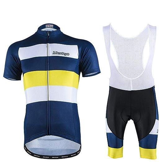 jersey Hombres Ciclismo Conjunto Bib Shorts Ropa De Bicicleta De ...