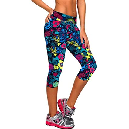 Sannysis Pantalones Mujer Deporte Yoga Pantalones Mallas para Mujer