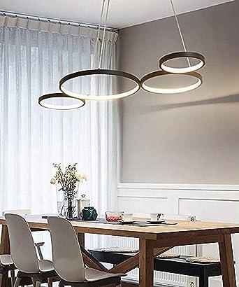 LED Moderno Colgante de luz Creativo Art Diseño Lámpara colgante comedor-Luz Altura ajustable Araña Luces-para Sala estar Cocina Mesa Bar Loft Dormitorio Oficina Estudiar, 3000K Luz blanca cálida 60W: Amazon.es: Iluminación