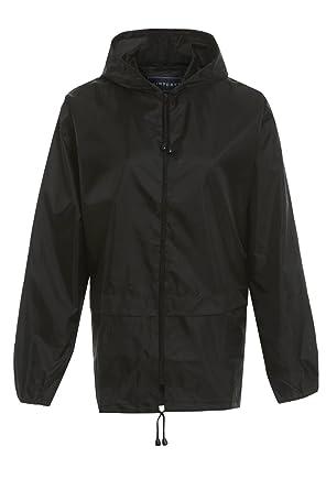 Style It Up Unisex Plain Rain Coat Mac Kagoul Jacket Water Proof Hooded  Cagoul Adults Pac ff1e92d14f