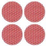 MSD Round Coasters Non-Slip Natural Rubber Desk Coasters design 20221616 pattern background poker