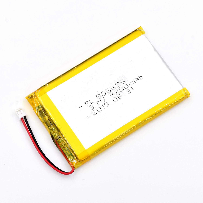 Bateria Lipo 3.7v 3200mah 605585 Recargable Jst Conector