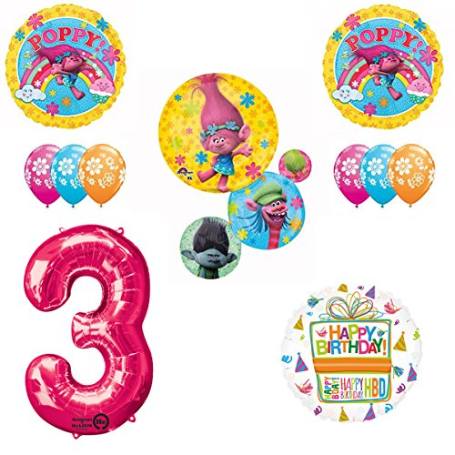 TROLLS Birthday Balloons Decoration Supplies product image
