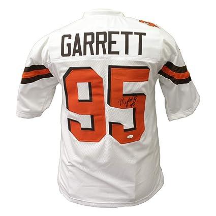 online store 4deb6 07dbe Myles Garrett Cleveland Browns Autographed Signed White ...