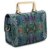Clearance Tote Bag, SanCanSn Female Models Casual Forest Girl Totem Shoulder Bag Metal Handle Handbag Bag (1PC, Green)